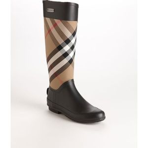 LIKE NEW Burberry Clemence Rubber Boots